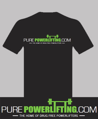 New Black PurePowerlifting.com Shirt